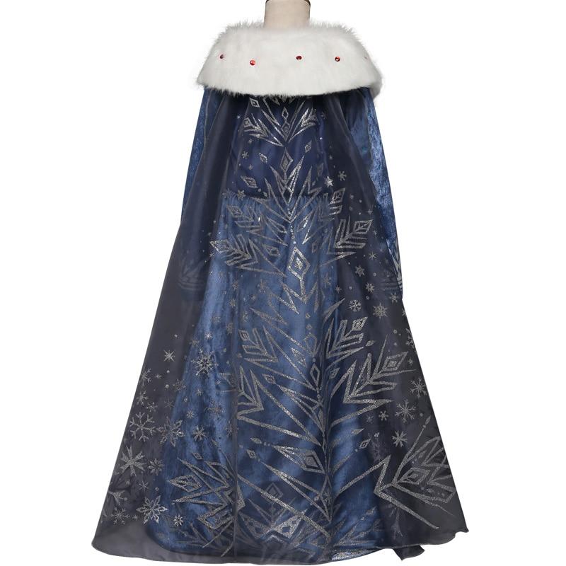HTB1YWeNo22H8KJjy0Fcq6yDlFXap 2019 Elsa Dresses For Girls Princess Anna Elsa Costumes Party Cosplay Elza Vestidos Hair Accessory Set Children Girls Clothing