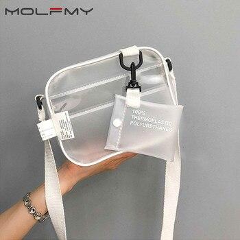 Women Shoulder Bag Fashion PVC Transparent Crossbody Bags Messenger Shoulder Beach Bag 2019 New Design Shoulder Bags drop ship фото