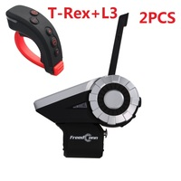 FreedConn 1500M 2PCS T-Rex+L3 Motorcycle Bluetooth   Helmet   Intercom Interphone   Headset   with L3 Remote Controller Waterproof