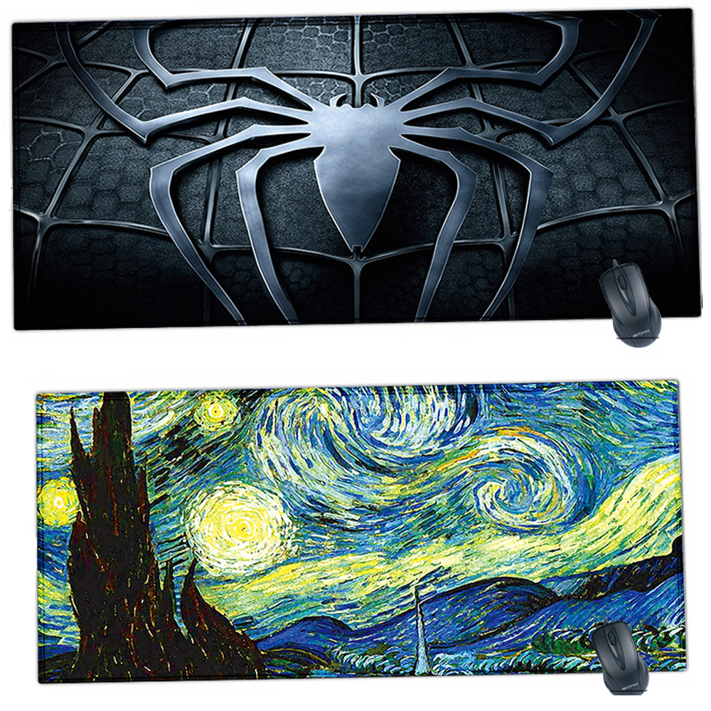Rubber Mouse Pad 90 X 40 cm XL Locking Edge Padmouse Work Office Desk Mat For CS GO Dota 2 LOL Computer Gaming Player Mousepad