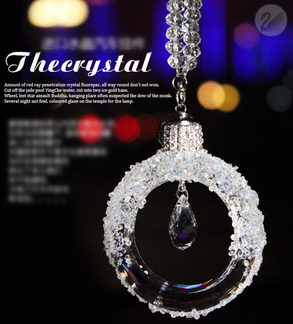 Car interior hanging - Fashion Crystal Car Hanging Pendant Ornament Car Interior Decoration Accessories Best Girl Gift China
