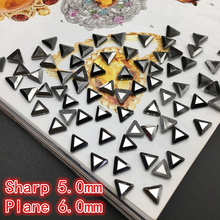Triangle Ore black Jet Crystal Stones Flatback special-shaped Glass Nail Rhinestones For Nails Art 3D Decorations Accessory
