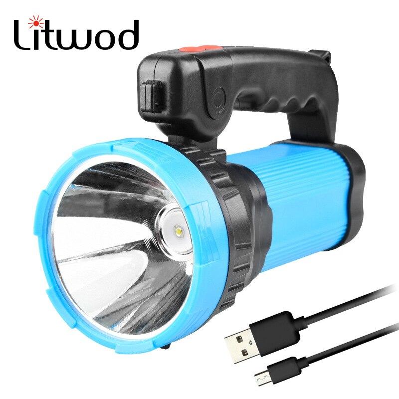Effizient Litwod Z20186 Led Taschenlampe Xm-l T6 Aluminium Taschenlampe Tragbare Laternen Wiederaufladbare Gebaut In Batterie Power Bank Funktion Tragbare Beleuchtung