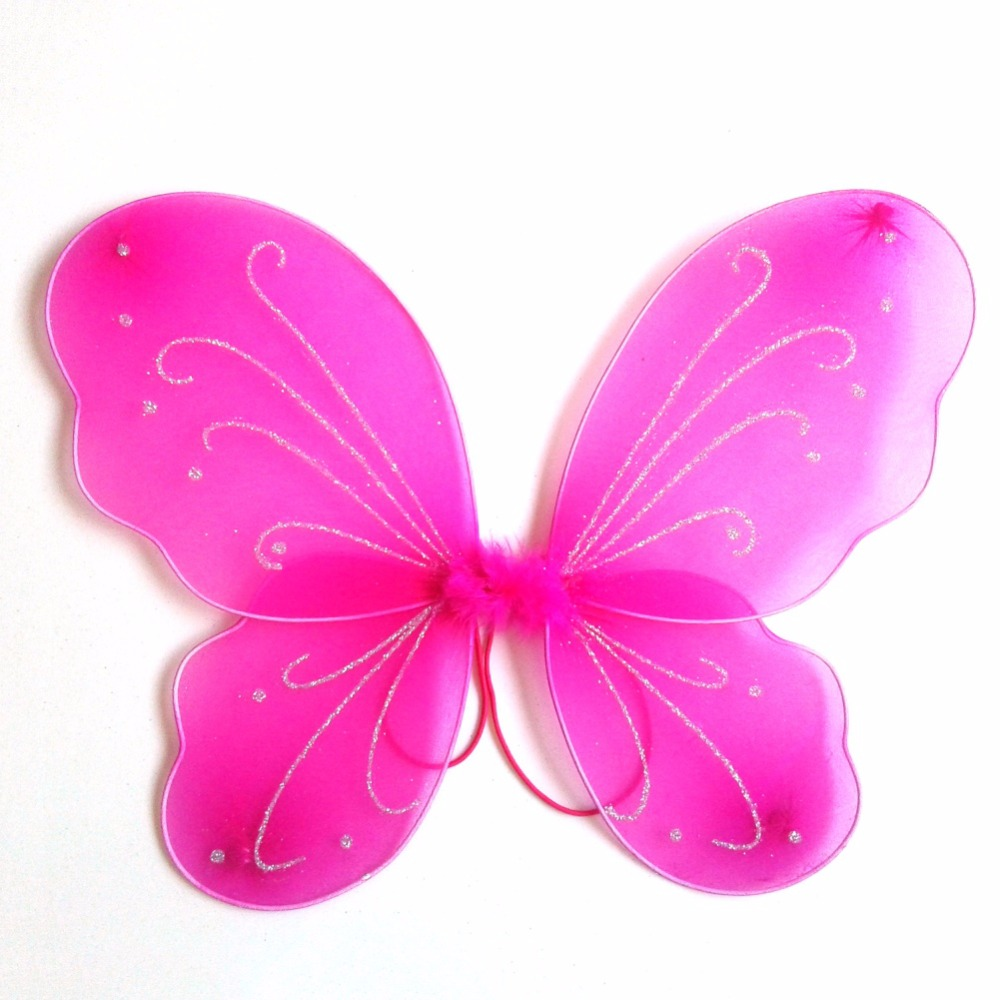 Weixinbuy Girls Butterfly Fairy Wings Princess Role Play Costume Birthday Home Garden Festive Party Dress up