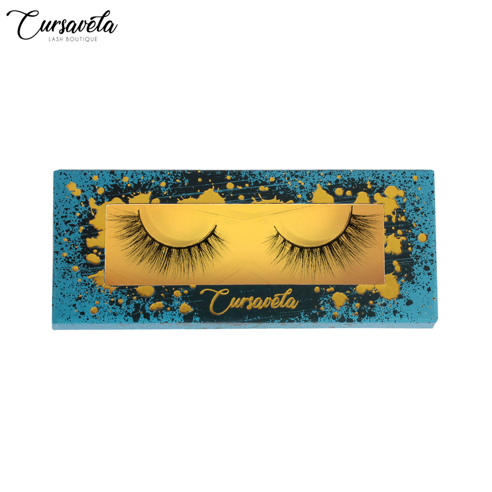 False Eyelashes Cursavela Handmade 3d Silk Synthetic False Eyelashes Vendor Amg Beauty Essentials