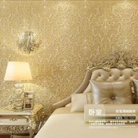 Luxry Papel De Parede 3d Wall Paper Glass Auger Crystal Non Woven Wallpaper Living Room TV