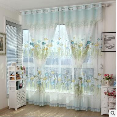 Popular Blue Patterned Curtains-Buy Cheap Blue Patterned Curtains ...