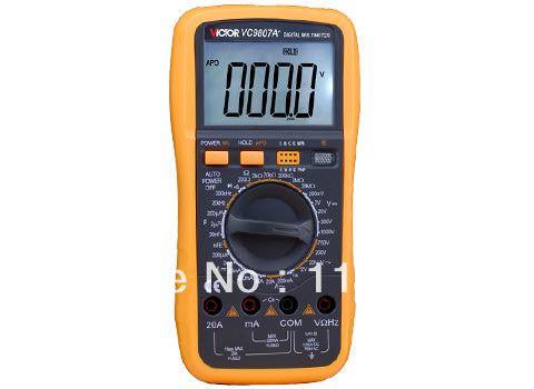 ФОТО Digital Multimeter//VC9807A+ 3/4 Auto Range Temperature Test Streamline Design & Large LCD Display