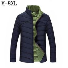 7XL 8XL 2017 New Stand Collar Men Winter Coat 2017 Jacket Men Cotton-Padded Fashion Slim Fit Parka Man Mens Jackets And Coats