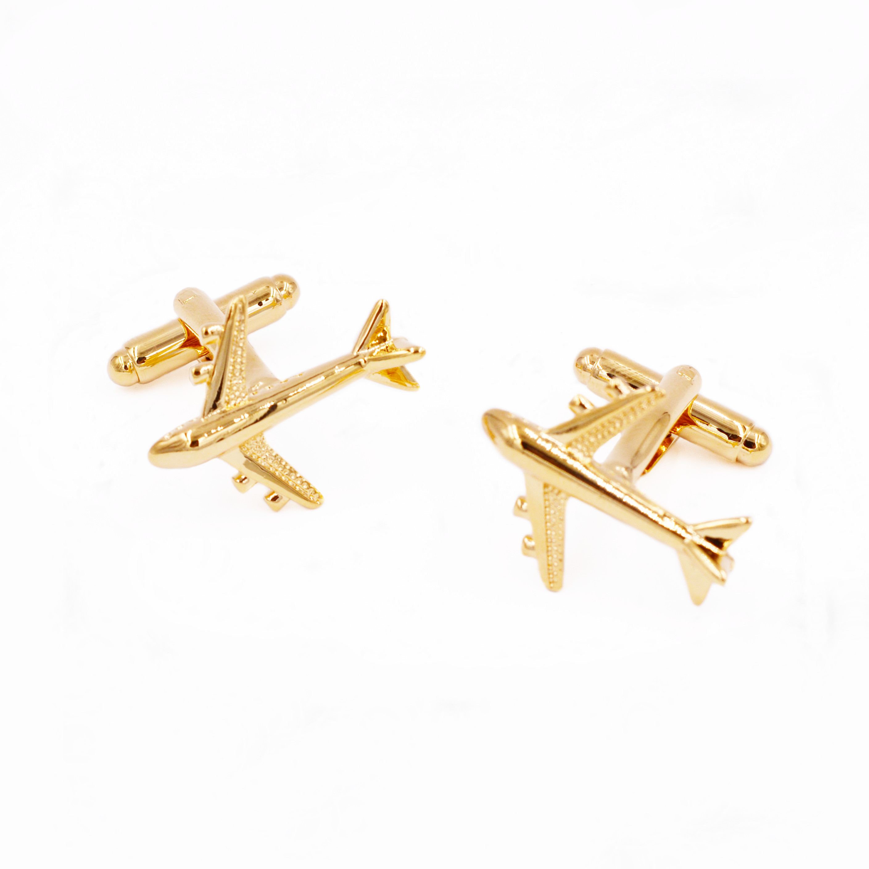 2017 Fashion Hot Sale Real Tie Clip Lepton Plane Styling Cuff links Mens AirPlane Cufflinks For Mens Gifts Cufflinks Wedding gi