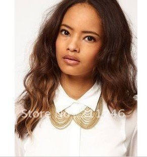 Factory Price 2012 Newest Fashion Punk Necklace Jewelry Hot  Wholesale Golden multi-layer false Collar Necklace Fashion Necklace