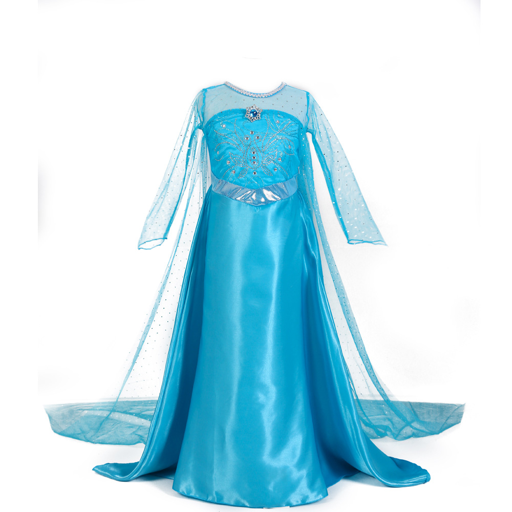 Elsa Party Dress Custom Made Movie Cosplay Dress Anna Girl Dress Princess Elsa Costume for Children  3-12Y riddle story of devil azuma tokaku custom made boots cosplay costume shoes