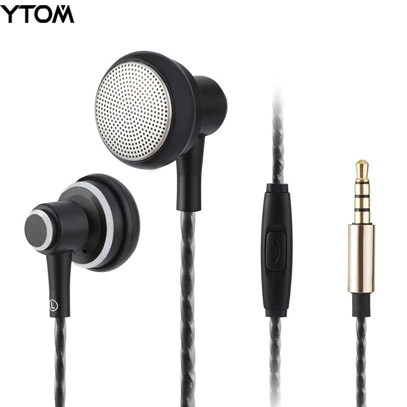 YTOM HIFI metal earphone clear bass earbuds with Microphone Noise Cancelling In Ear Headset DJ XBS earpiece for xiaomi iphone