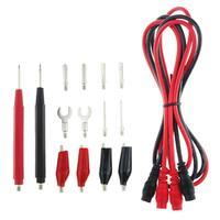 16 unids/set multímetro Digital Sonda de Cable conductor de prueba Clip herramienta multifunción Tester medidor de plomo Sonda de herramienta