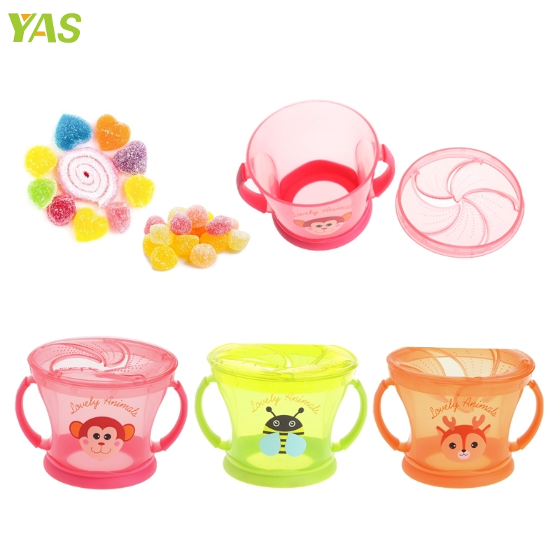 Hot Sale Soft Food Bowl Children Snack Spilled Cup Leak Proof Baby Snack Box Container APR20