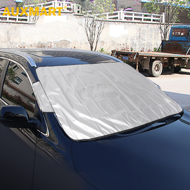 AUXMART Universal Fit Automobile Sunshade Cover Snow Ice Shield For Windshield Winter Summer Car Front Window Windscreen Covers