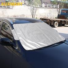 AUXMART Универсальный Автомобильный солнцезащитный козырек для лобового стекла зима лето лобовое стекло автомобиля переднее стекло ветровое стекло чехлы
