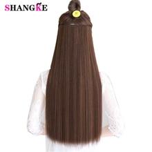 SHANGKE волосы 24 ''длинные прямые волосы для наращивания 5 клипс в поддельных волос для наращивания термостойкие синтетические накладные волосы для прически