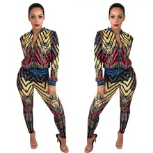 Autumn Two Piece Set Women Clothes Print Tracksuits Long Sleeve Sweatshirts Hoodies+Pants Track Suit Sexy 2 Outfit