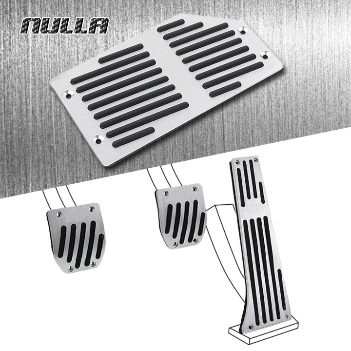 NULLA LHD Non-slip Aluminum Foot Rest Pedals Gas Fuel Brake Pedal Manual For KIA K5 K7 Sportage R Sorento MT Replacement