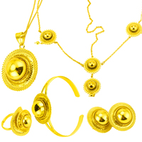 Ethiopian Jewelry Set Gold Color Hair Pice Pendant Chain Earing Ring Bracelet Eritrea Africa Habesha Wedding