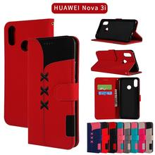 For Xiaomi Rdemi Note 7 Note 6 Por Embroidered Case Card Wallet Leather Cases Flip Stand Cover Mobile Phone Bag