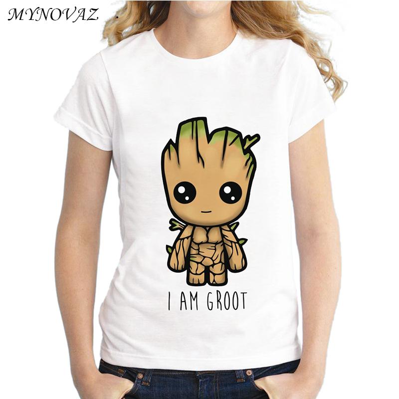 d06b248932d MYNOVAZ I Am Groot T Shirt Women Guardians Of The Galaxy Tree ...