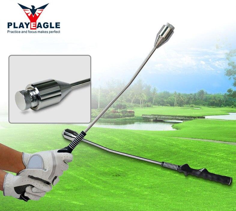 PLAYEAGLE גולף עזרי הדרכה עיסוק Swing כלי מתכוונן משקל מוט גולף אימון ציוד עם יד אחיזה למתחילים