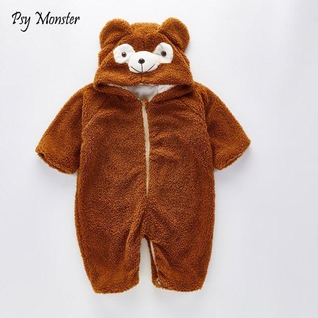 1b20cd9eb Baby Boys Winter Bear Romper Children Fleece Pajamas Christmas ...