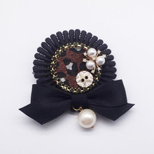 Handmade Xmas Vintage Bow Brooch for Girl Corsage Pin Antique Buckle Women Party Accessories