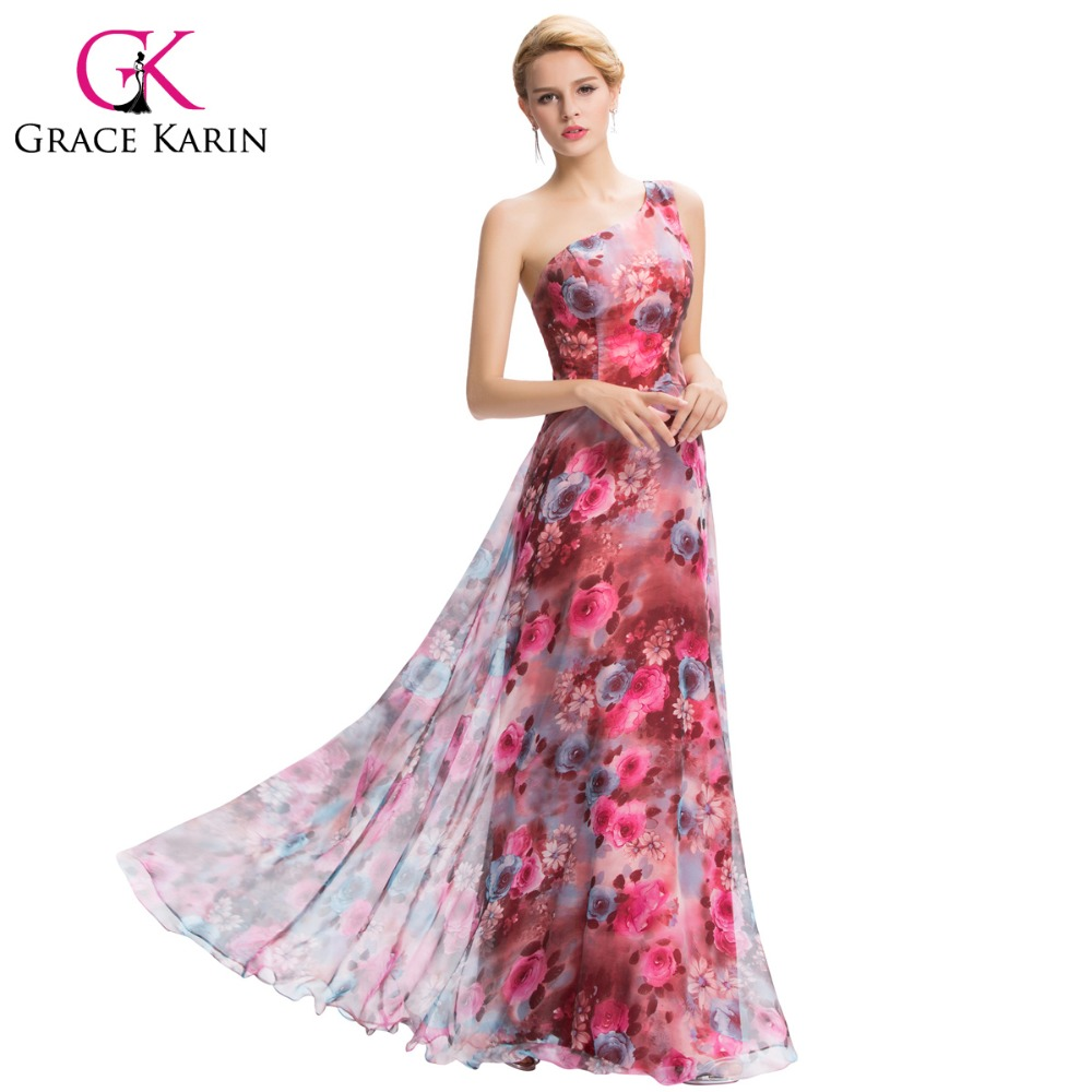 Popular Floral Print Evening Gowns-Buy Cheap Floral Print Evening ...