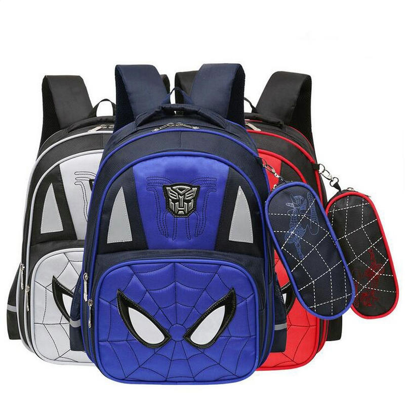 Cartoon Children Spiderman Orthopedic Schoolbags Child Waterproof School Backpack For Kid Reflective Shoulder Bags Mochilas Bags
