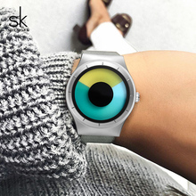 Shengke נירוסטה שעונים נשים מותג יוקרה קוורץ שעונים Relogio Feminino 2019 SK Creative גבירותיי שעון יד הטוב ביותר מתנות