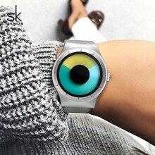 Shengke paslanmaz çelik saatler Marka Lüks quartz saat Relogio Feminino 2019 SK Yaratıcı Bayanlar kol saati En Iyi Hediyeler