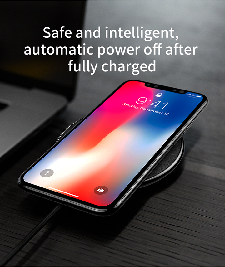 Baseus Qi Wireless Charger Pad For iPhone X XS Max XR 10W Fast Charger Wireless Charging for Samsung S9 Note 10 Wireless Charger 7