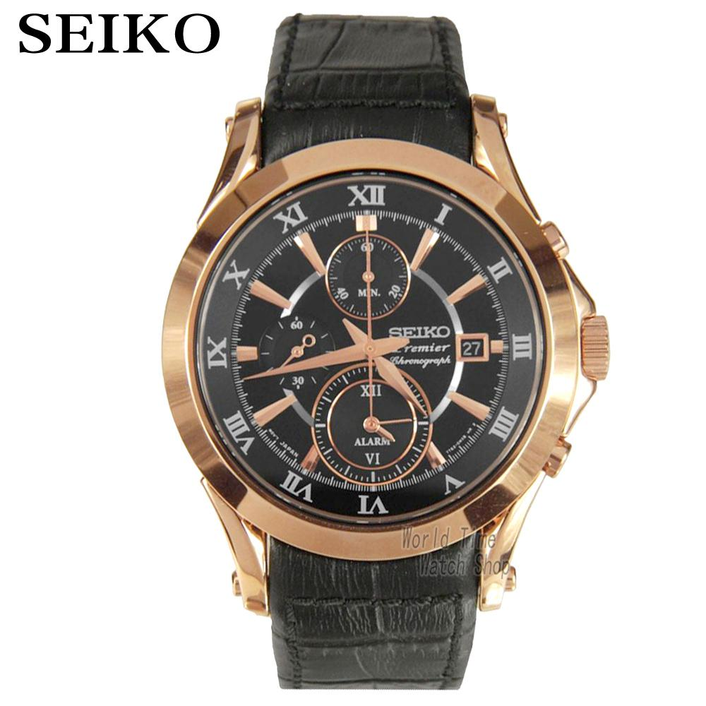 [ pre sale november 11 delivery ] seiko watch seiko 5 automatic sports st aviator 24 jewels men s watch made in japan srp349j1 Seiko Watch Premier Series Sapphire Chronograph Quartz Men 's Watch SNAF24P1