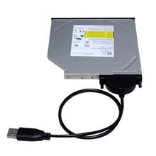 USB 2.0เพื่อมินิSata II 7 + 6 13Pinอะแดปเตอร์แปลงสกรูสายมั่นคงสไตล์สำหรับแล็ปท็อปCD/ดีวีดีรอมSlimlineไดรฟ์