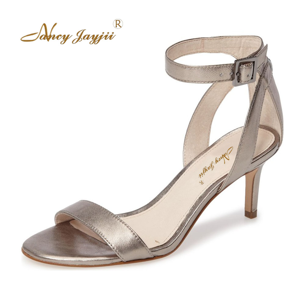 2018 Summer Women Medium High Heels Sandals Party&Casual Woman Snaker&Black&Gray Shoes,Zapatos Mujer Tacon Sapato Nancyjayjii процессор intel core i5 6400 2 7ghz 6mb socket 1151 box page 4