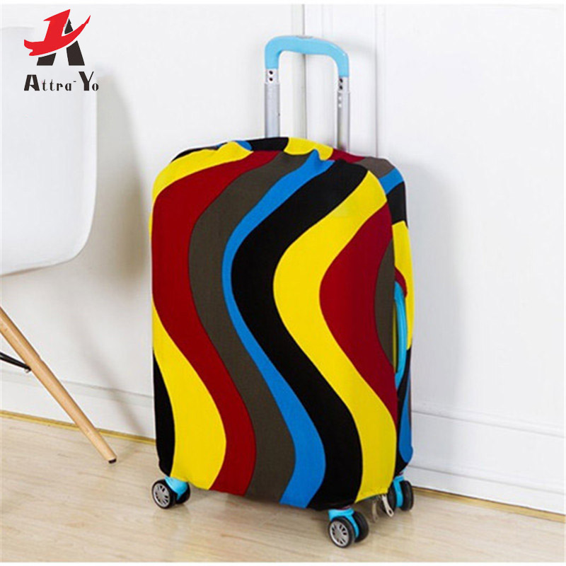 Attra-Yo Colorful Travel Luggage Cover Protective Suitcase Cover Trolley Case Travel Accessories Luggage Dust Cover 22-28 Inch