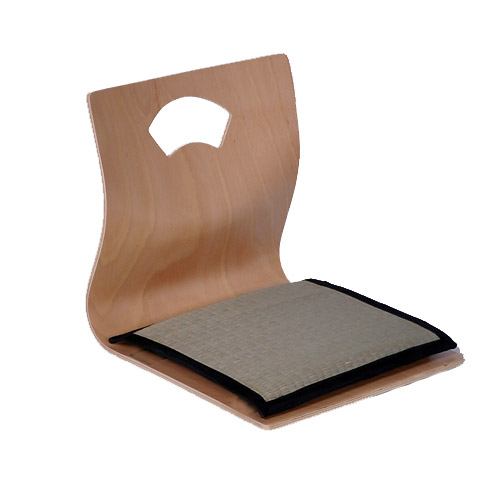 (4pcs/lot)Japanese Floor Seating Furniture Chairs Latest Natural Color Reversible Cushion Living Room Zaisu Tatami Legless Chair