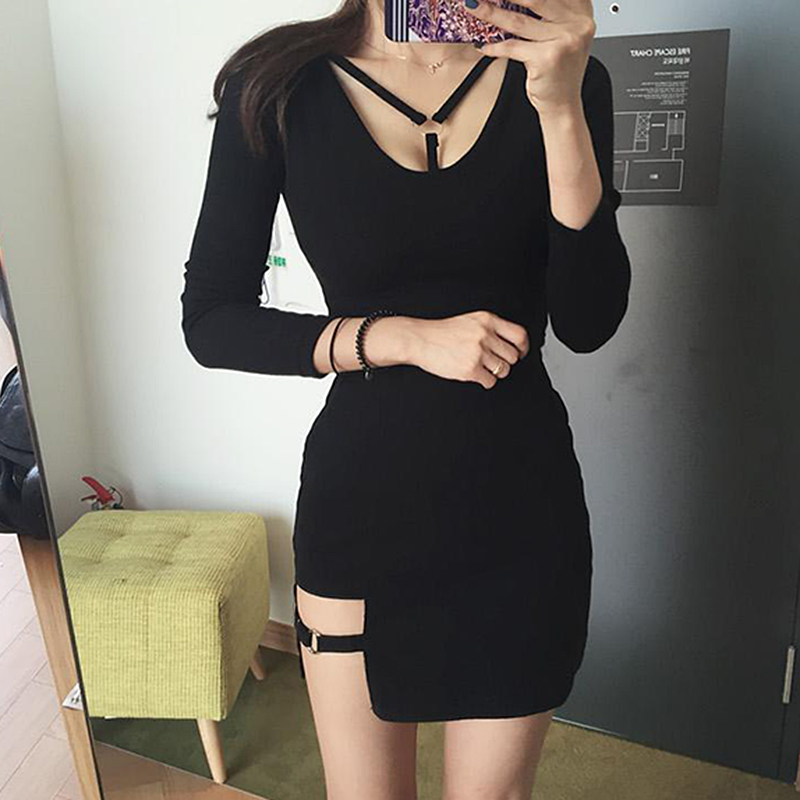 Summer Korean Style Package <font><b>Hip</b></font> Skirts Irregular Hem Pencil Micro Skirt <font><b>Sexy</b></font> Slim Women Bodycon Party Street Black style Skirts image