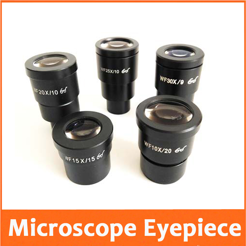 WF10X 15X 20X Wf25x WF30X 20mm 10mm 9mm Optical Glass High Eyepiont Stereo Microscope Eyepiece Lens With Mounting Size 30mm