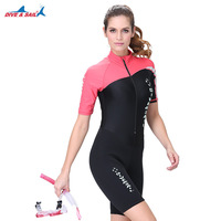 e40220dfa Neoprene Dive Skin For Women UV Protection One Piece Shorty Wetsuit Quick  Dry Swimmwear For Scuba
