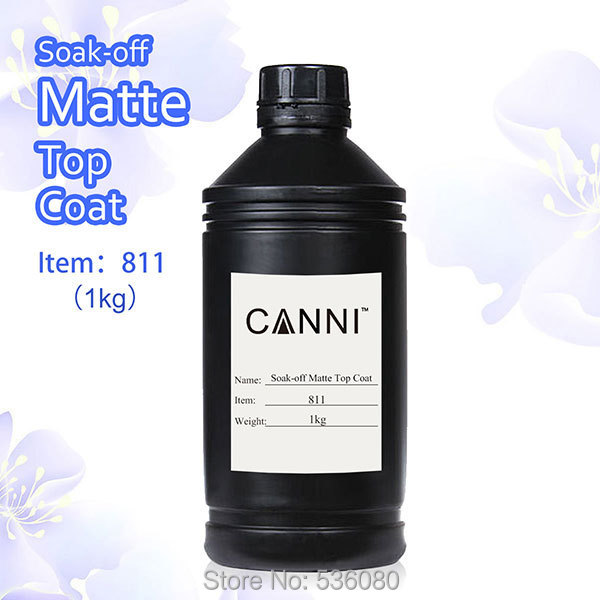 #811 Free Shipping Super Quality Matt Top Coat Gel Polish Raw Materials 1 Liter Pckage