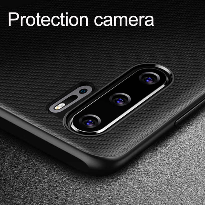 HUAWEI 社 P30 プロケースオリジナル炭素繊維テクスチャ Pu レザーの完全な保護裏表紙華為 P20 P30 Lite 電話ケース funda