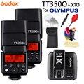 Мини Вспышка Godox TT350O Speedlite TTL HSS1/8000 S GN36  карманные фонари  TT350-O + X1T-O + подарочный набор для Olympus
