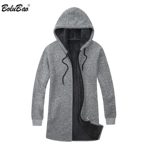 Image 3 - BOLUBAO Brand Men Cardigan Sweaters Coats Casual Slim Fit Plus Velvet Mens Sweaters Winter New Male Hooded Knitting Sweaters