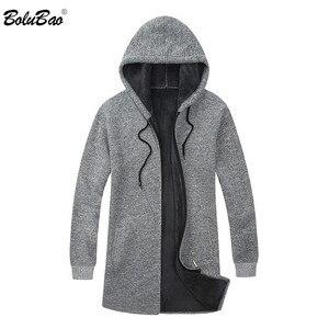 Image 3 - BOLUBAO ยี่ห้อผู้ชาย Cardigan เสื้อกันหนาวเสื้อลำลอง Slim Fit Plus กำมะหยี่เสื้อกันหนาวผู้ชายฤดูหนาวใหม่ชาย Hooded ถักเสื้อกันหนาว