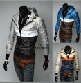 2015 new arrived spring Leisure color design speed dry men's hooded spring thin jacket free shipping 2color 4 size