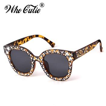 b854047983 Que Linda 2018 estrellas de ojo de gato gafas de sol de acetato mujeres Vintage  gafas de marco de cristal superior plano cuadrado gafas de sol tonos 616